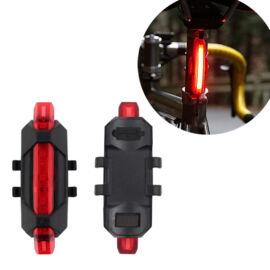 Tölthető LED bicikli kerékpár lámpa piros