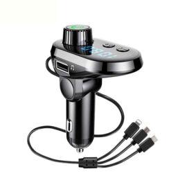 Autós Bluetooth FM transzmitter digitális kijelzővel Q15