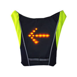 Irányjelző LED láthatósági mellény távirányítóval kerékpárosoknak futóknak gyalogosoknak