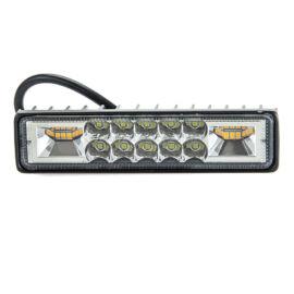 Autós LED reflektor 145mm 48W 10db hideg fehér LED 6db meleg fehér LED IP67 9-36V