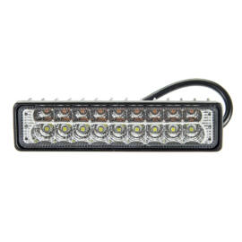 Autós LED reflektor 145mm 54W 9db hideg fehér LED 9db meleg fehér LED IP67 9-36V