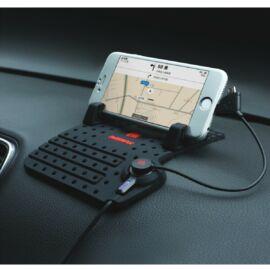Univerzális csúszásgátlós autós telefontartó és töltő