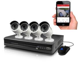 4 kamerás komplett biztonsági megfigyelő rendszer