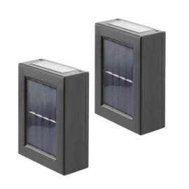 LED szolár napelemes fali lámpa kétirányú világítással 2 db