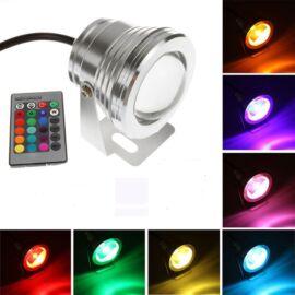 Vízálló színes lámpa távirányítóval RGB LED 9W