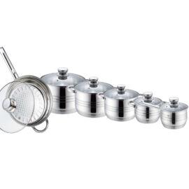Zurrichberg főzőedény készlet rozsdamentes acél 12 részes ZBP/8013