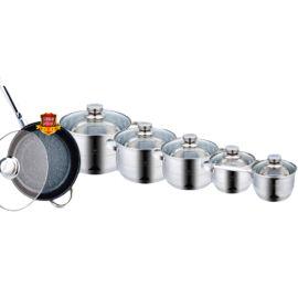 Zurrichberg 12 darabos főzőedény készlet márványbevonatú serpenyővel ZBP/8020