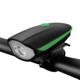 Bicikli kerékpár lámpa és elektromos csengő kürt egyben USB tölthető