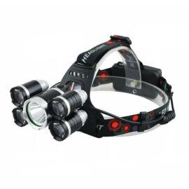 Five Light nagy fényerejű LED fejlámpa 5 LED tölthető
