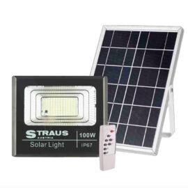 Straus 100W Napelemes Vízálló IP67 LED-es Reflektor Távirányítóval ST/SL-100