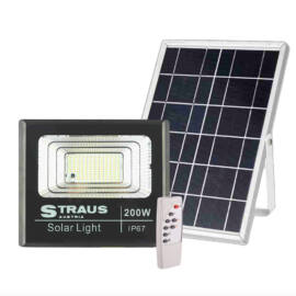 Straus 200W Napelemes Vízálló IP67 LED Reflektor Távirányítóval ST/SL-200