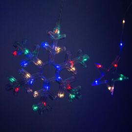 LED csillag és hópehely jégcsap fényfüzér 3m RGB színes TB2316