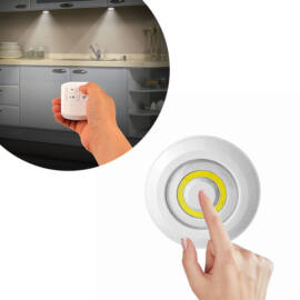 3db COB ledes lámpa vezeték nélküli távirányítóval kör