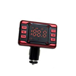 Autós FM transzmitter töltő digitális kijelzővel TF USB AUX KCB-912