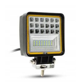 Autós LED reflektor irányjelzővel 126W IP67 10-30V szögletes