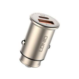 LDNIO C506Q autós gyorstöltő szivargyújtós 2 USB port QC4.0