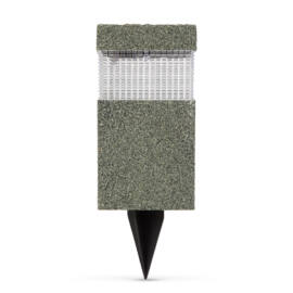 LED szolár lámpa kőmintás műanyag