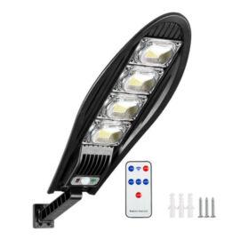 Napelemes LED kültéri mozgásérzékelős fali lámpa távirányítóval 80W W779B