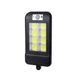 Mozgásérzékelős napelemes fali lámpa 160db COB LED DNL-908-8