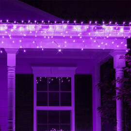 Jégcsap 180 LED Fényfüzér Lila 5m