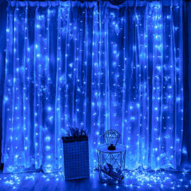 LED Fényfüggöny 2mx2m Kék