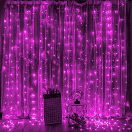 LED Fényfüggöny 2mx2m Pink