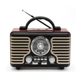 Retro Bluetooth hangszóró távírányítóval FM rádió micro SD USB PX-30BT