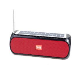 Napelemes Bluetooth Hangszóró TF USB AUX FM lámpával NS-S26S