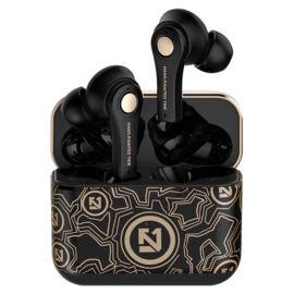 Fekete vezeték nélküli fülhallgató Bluetooth 5.0 fülhallgató és töltőtok TS-100