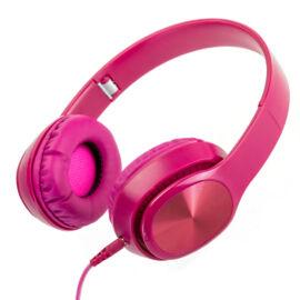Hanizu vezetékes fejhallgató 4D sztereó pink színben HZ-362