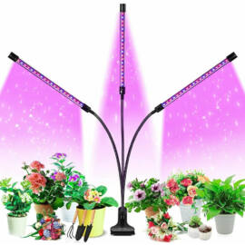 Növény nevelő LED lámpa 18W 3 fejű hajlítható csíptethető DC 5V