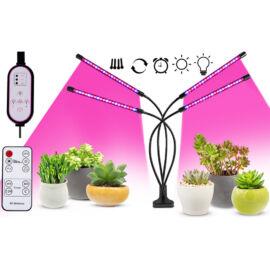 Növény nevelő LED lámpa 24W 4 fejű hajlítható csíptethető DC 5V