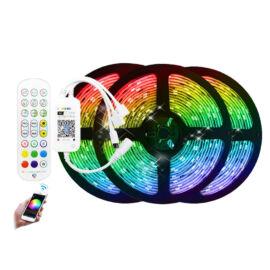 WiFi RGB okos LED szalag szett távirányítóval telefon és hangvezérlés 15m