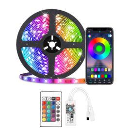 WiFi RGB okos LED szalag szett távirányítóval telefon és hangvezérlés 10m