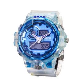Sbao multifunkciós analóg és digitális sportóra 55mm kék-fehér S-8018-1