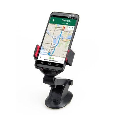 Autós telefon tartó szélvédőre tapadókorongos kihúzható karral