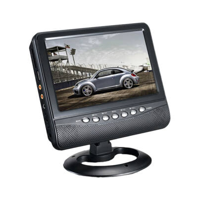 """Autós monitor 7,5"""" kijelző TV analóg hangoló USB SD"""