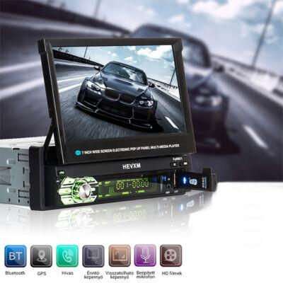 """Univerzális Autós Multimédia HiFi Fejegység MP5 BT FM 7"""""""