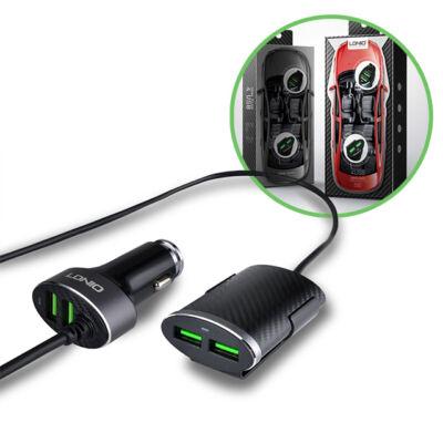 LDNIO 4 portos USB szivargyújtós töltő 1m hosszabbító kábel