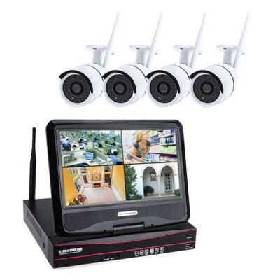 Vezeték nélküli CCTV HD kamera rendszer monitorral 4 kamerás