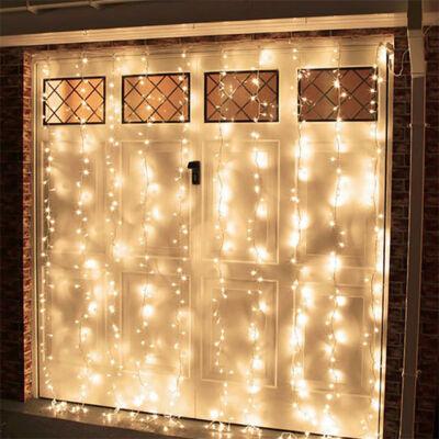 LED Fényfüggöny 2mx2m Meleg Fehér