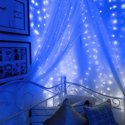 Fényhuzal fényfüggöny Kék 2mx2m