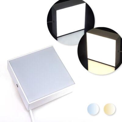 LED lámpa 16W 120x120mm hideg fehér meleg fehér