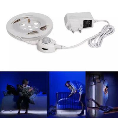 LED ágyvilágítás mozgásérzékelős hideg fehér 1,5m
