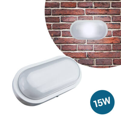LED Kültéri Beltéri Fali Lámpa Ovális IP65 15W