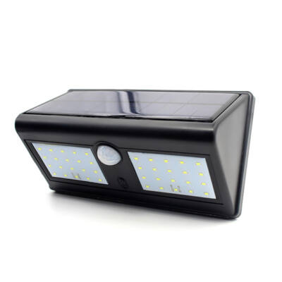 Napelemes fali LED lámpa mozgásérzékelős 40LED