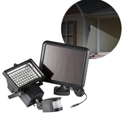 Mozgásérzékelős LED Napelemes Reflektor Kültéri 10W
