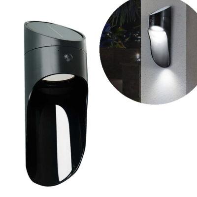 Napelemes kültéri dekor LED fali lámpa mikrohullámú érzékelővel