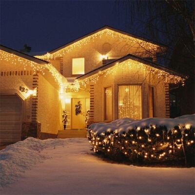 Jégcsap 180 LED Fényfüzér Meleg Fehér 6,6m