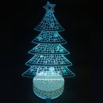 3D LED dekorációs éjszakai fény RGB karácsonyfa TB1120